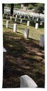 Arlington Tombstones Shade And Light Beach Towel