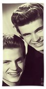 The Everly Brothers Beach Towel