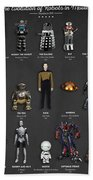 The Evolution Of Robots In Movies Beach Towel