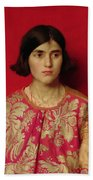 The Exile - Heavy Is The Price I Paid For Love Beach Towel by Thomas Cooper Gotch