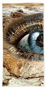 The Eye Of Nature 1 Beach Towel