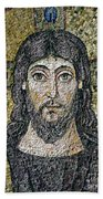 The Face Of Christ Beach Towel by Byzantine School