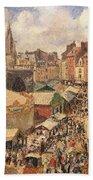 The Fair In Dieppe Beach Towel by Camille Pissarro