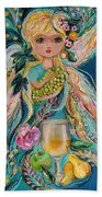 The Fairies Of Wine Series - Chardonnay Beach Towel