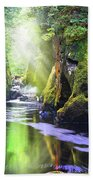 The Fairy Glen Gorge River Conwy Beach Towel