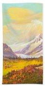 The Fall Colors Of Alaska Route 8 No.3 Beach Towel
