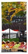 The Fall Harvest Is In Kendall Square Farmers Market Foliage Beach Towel