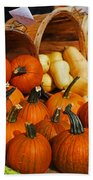 The Fall Harvest Is In Kendall Square Farmers Market Beach Towel