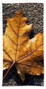 The Fall Of Autumn Beach Towel