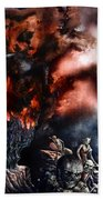 The Fall Of Azturath Beach Towel