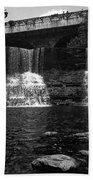 The Falls In Black And White Beach Sheet