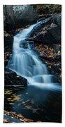 The Falls Of Black Creek In Autumn II Beach Towel