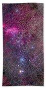 The False Comet Cluster Area Beach Towel