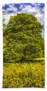 The Farm Tree Art Beach Towel