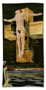 The Father Is Present -after Dali- Beach Towel