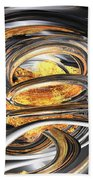 The Fire Within Abstract Beach Towel
