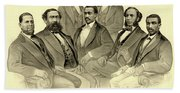 The First African American Senator And Representatives Beach Towel