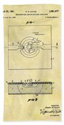 The First Computer Chip Patent Beach Towel