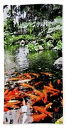 The Fish Pond At Thailand Beach Towel