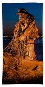The Fisherman After Nightfall Beach Towel