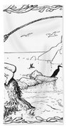 The Fisherman And His Wife Beach Towel