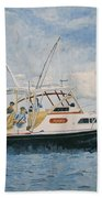 The Fishing Charter - Cape Cod Bay Beach Towel