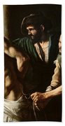 The Flagellation Of Christ Beach Towel by Caravaggio