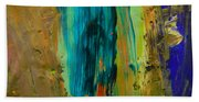 The Flair Of The Flame Abstract Beach Towel