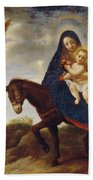 The Flight Into Egypt Beach Towel by Carlo Dolci