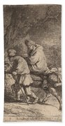 The Flight Into Egypt: Small Beach Towel