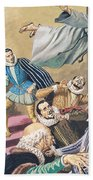 The Flight Of Father Dominic Beach Towel by English School
