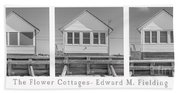 The Flower Cottages Trio Poster Beach Sheet