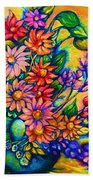 The Flower Dance Beach Towel