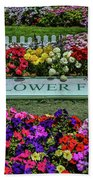 The Flower Field Beach Towel