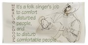 The Folksinger's Job Beach Towel