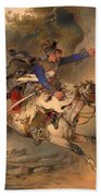 The Foraging Hussar 1840 Beach Towel