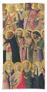 The Forerunners Of Christ With Saints And Martyrs Beach Towel