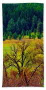 The Forest Echoes With Laughter Beach Towel