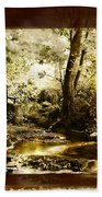 The Forgotten Watermill Wheel Beach Towel
