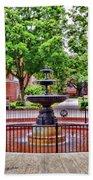The Fountain At Radford University Beach Towel