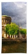 The Four Courts In Reconstruction 2 Beach Towel