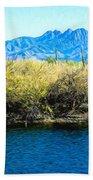 The Four Peaks From Saguaro Lake Beach Towel