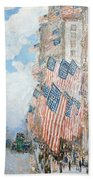 The Fourth Of July Beach Towel by Childe Hassam