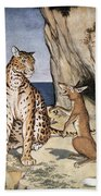 The Fox And The Leopard Beach Towel