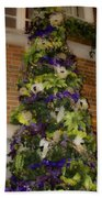 The French Thistle Tree Fashions For Evergreens Hotel Roanoke 2009 Beach Towel
