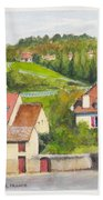 The French Village Of Billy In The Auvergne Beach Towel