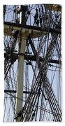 The Friendship Of Salem Tall Ship  In Salem Massachusetts Usa Beach Sheet