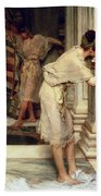 The Frigidarium Beach Towel by Sir Lawrence Alma-Tadema