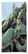 The Front Up Close -- The Iwo Jima Monument Beach Towel