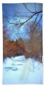 The Frozen Creek Beach Towel